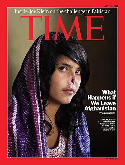 Aisha en couverture du Time.