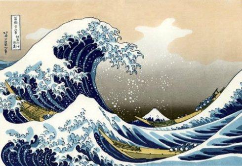 Art japonais - Tsunami.
